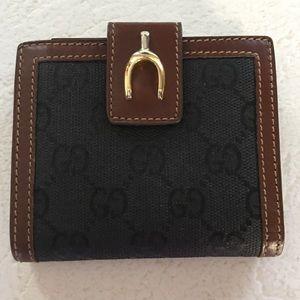 Vintage Gucci Horsebit Black Wallet